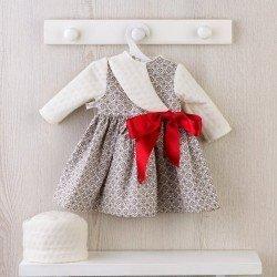 Ropa para Muñecas Así 57 cm - Vestido de formas geométricas con lazo rojo para muñeca Pepa