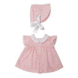 Ropa para Muñecas Así 46 cm - Vestido de flores rosa con picunela blanca para muñeca Leo