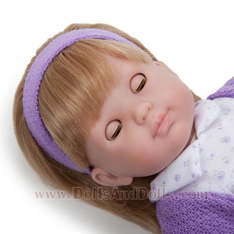 Berenguer Boutique doll 36 cm - Blonde Carla with white and purple set