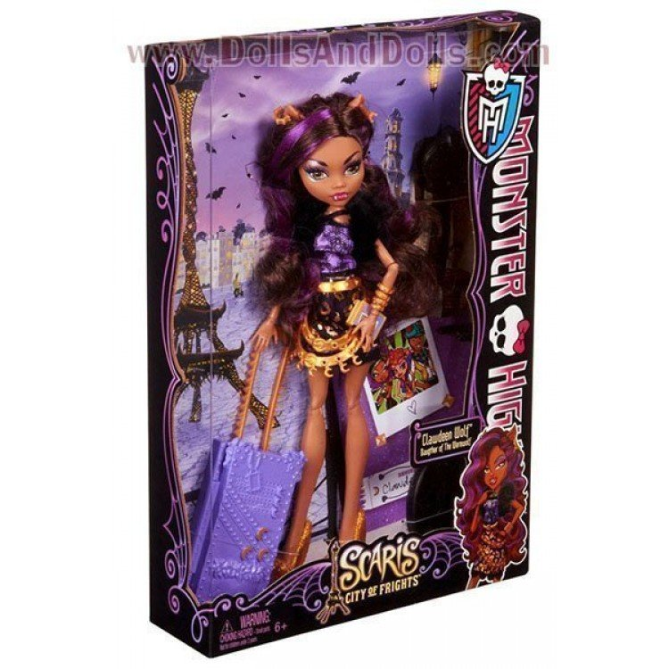 Monster High doll 27 cm - Clawdeen Wolf Scaris Deluxe