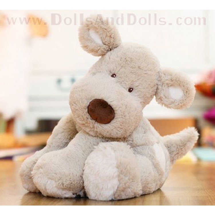 Teddy Cream - Gray Dog - 40 cm