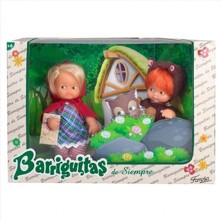 Barriguitas de Siempre 15 cm - Red Riding Hood and the Wolf