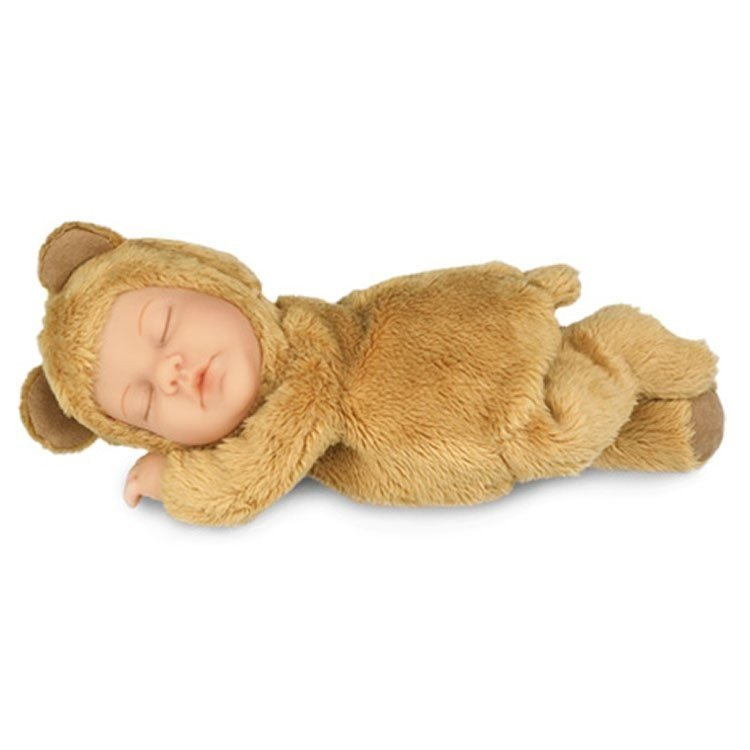 Anne Geddes Baby Brown Bear Pretty And Colorful Art Dolls-ooak