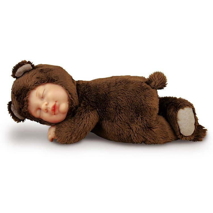 Art Dolls-ooak Anne Geddes Baby Brown Bear Pretty And Colorful