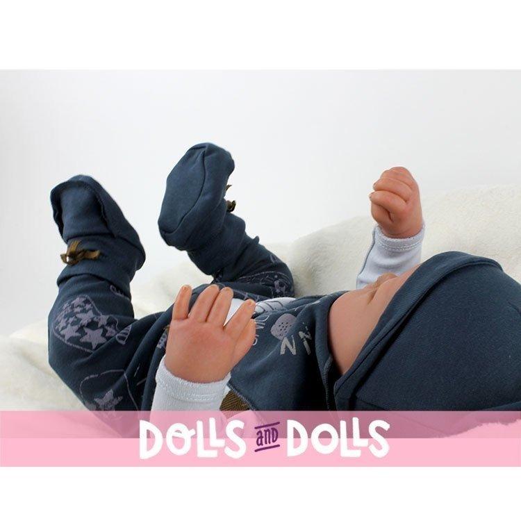 "Antonio Juan doll 40 cm - Happy ""Message in a bottle"" Reborn limited series"
