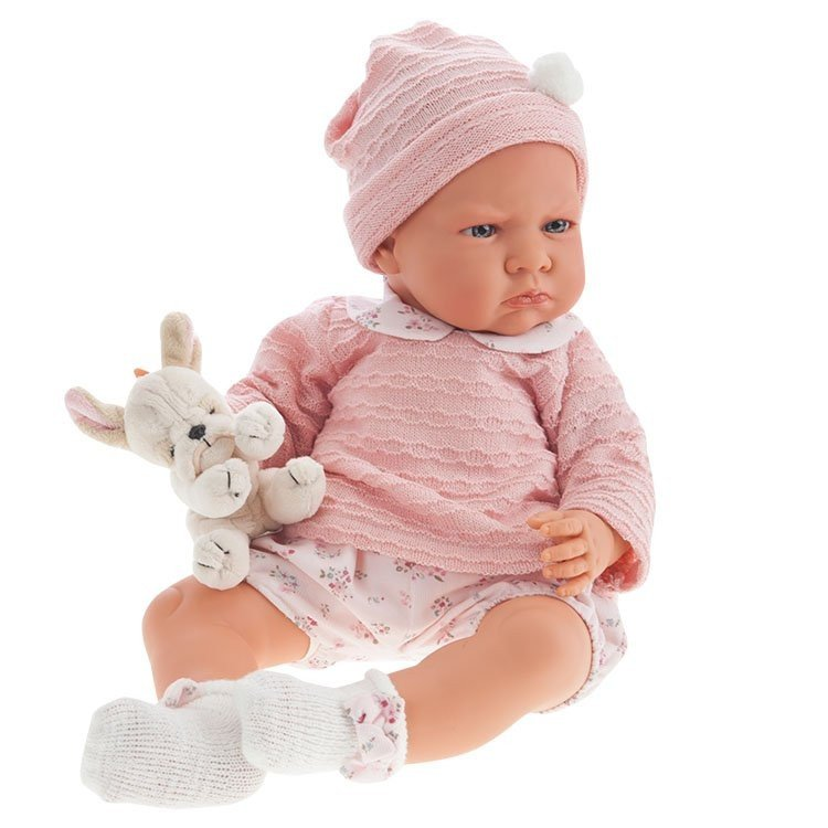 Antonio Juan Doll 52 Cm Berta With Pink Short And Plush