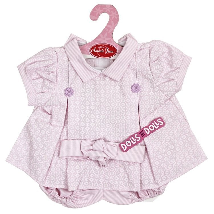 Antonio Juan doll Outfit 40-42 cm - Lilac printed dress with headband