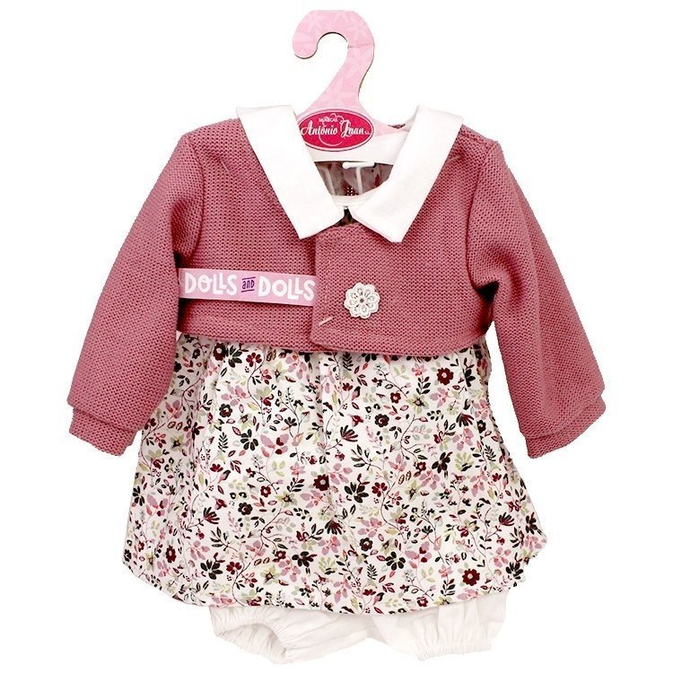 Antonio Juan doll Outfit 40-42 cm - Flower printed outfit with dusky pink jacket