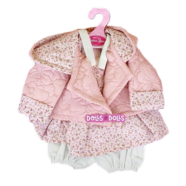 Antonio Juan doll Outfit 40-42 cm - Flower printed outfit with padding jacket