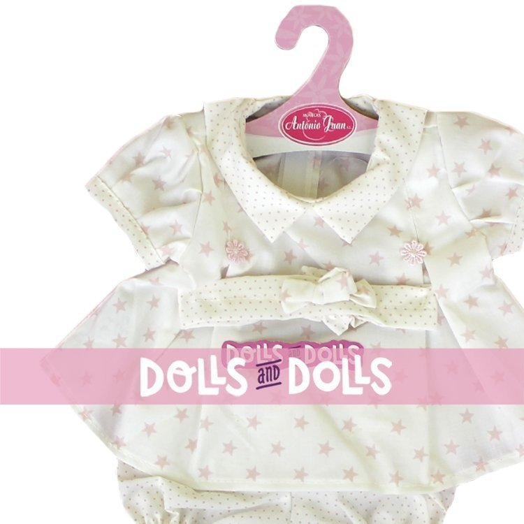 Antonio Juan doll Outfit 40-42 cm - Stars and dots printed outfit with headband