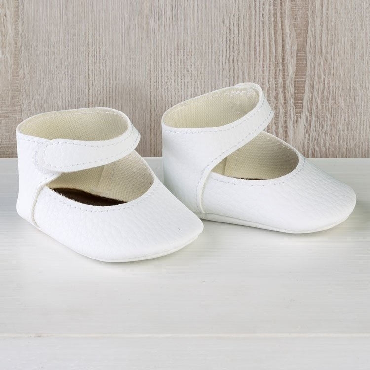Así doll Complements 36 to 40 cm - White bootie shoes for Guille, Koke and Nelly doll