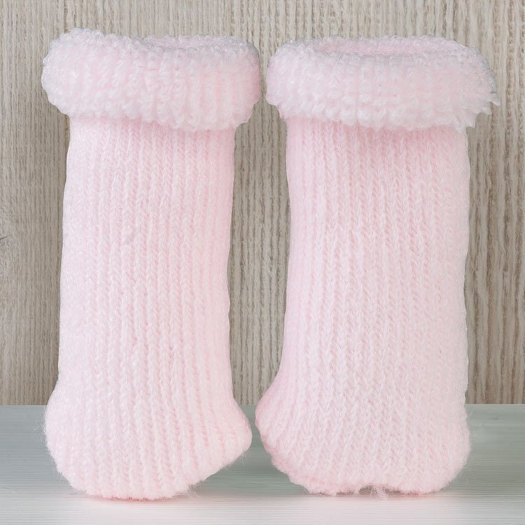 Así doll Complements 36 to 46 - Pink wool curl booties