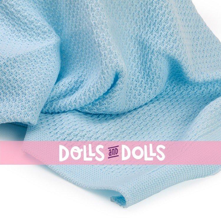 Así doll Complements - Light blue wool blanket