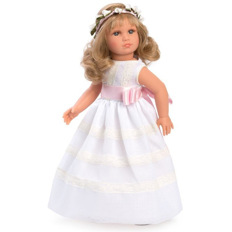 Así doll 40 cm - Nelly Communion organdie with beige lace
