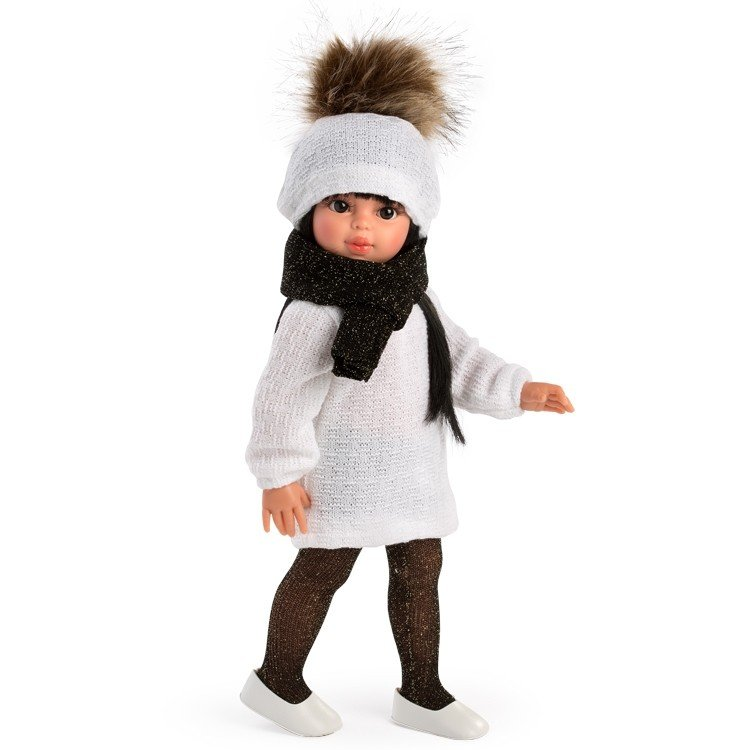 Así doll 40 cm - Sabrina with white knitted hat and dress