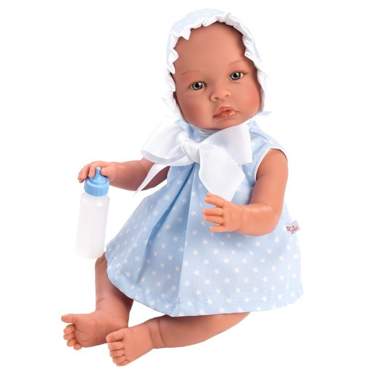 Así doll 46 cm - Leo with light blue dress with white stars
