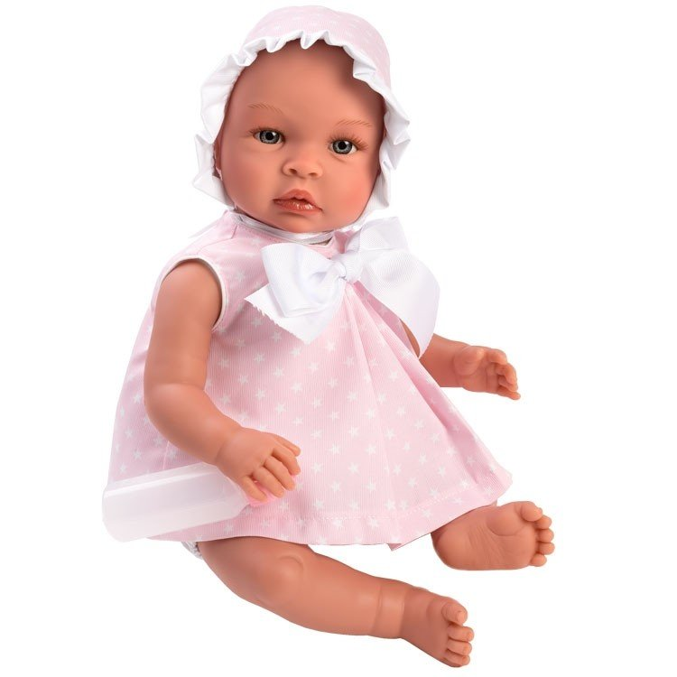 Así doll 46 cm - Leo with pink dress with white stars
