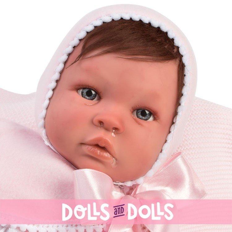 Así doll 46 cm - Patricia Real Reborn doll with hair