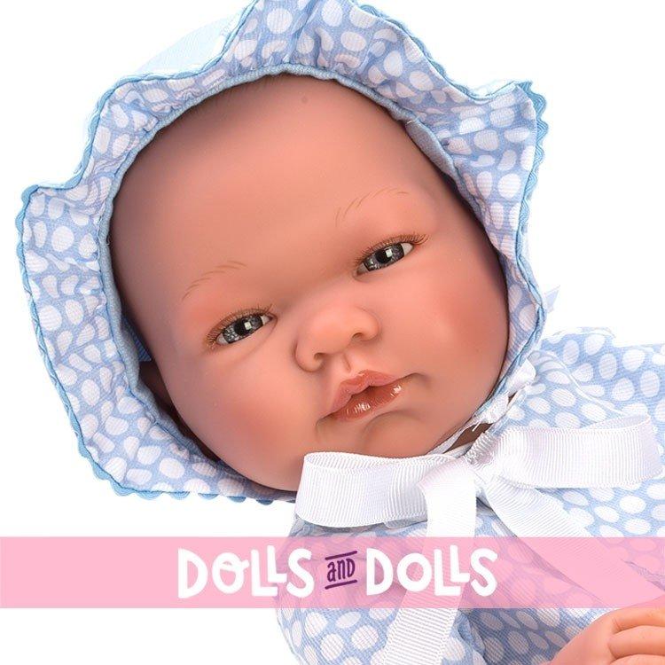 Así doll 43 cm - Pablo pique light blue with white circles
