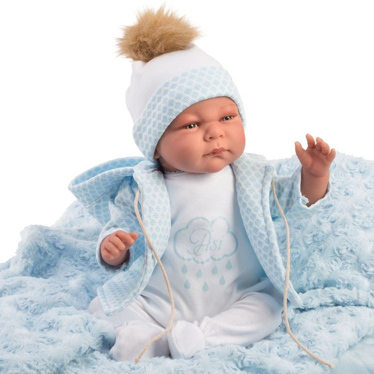 Así doll 46 cm - Samuel, limited series Reborn type doll