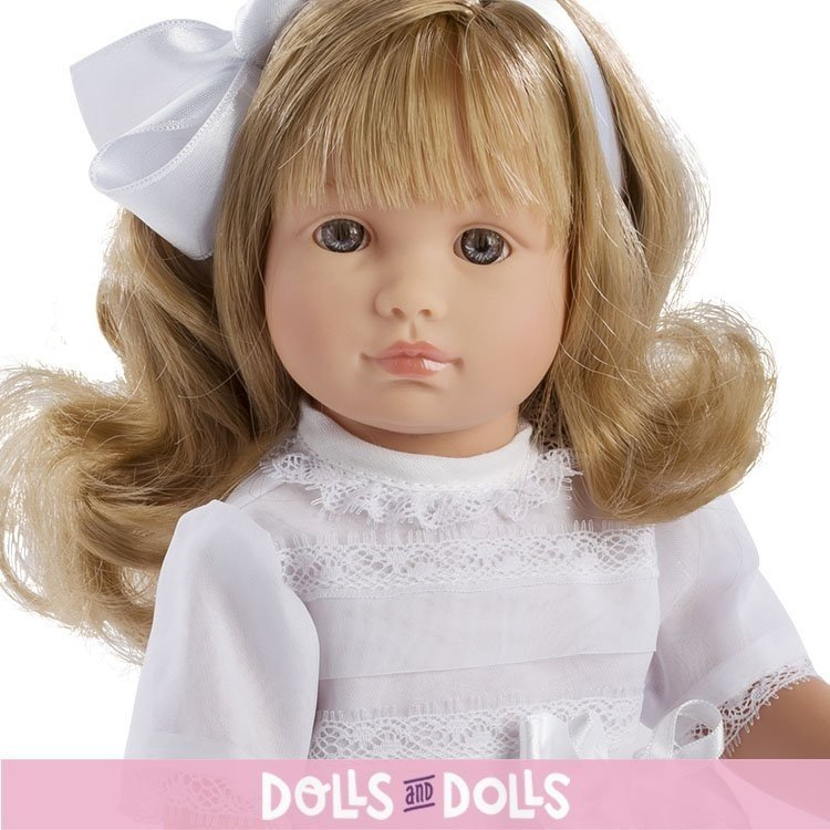 Así doll 40 cm - Nelly blond Communion with bow