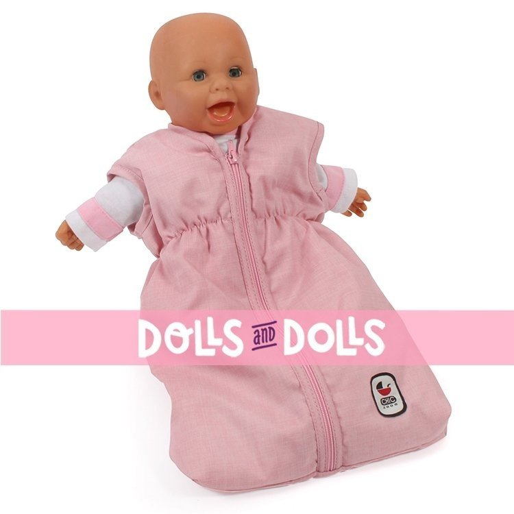 Sleeping bag for dolls to 55 cm - Bayer Chic 2000 - Pink-grey