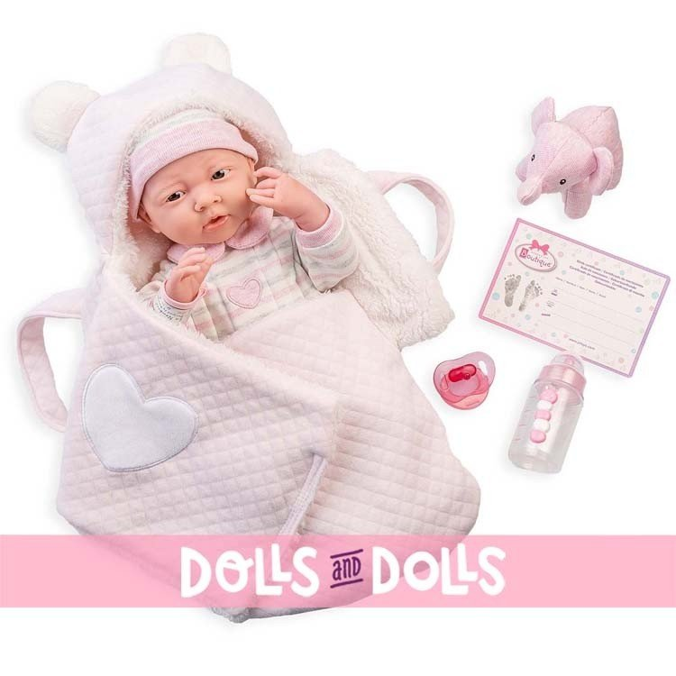 Berenguer Boutique doll 39 cm - 18791 The newborn with carrycot and accessories