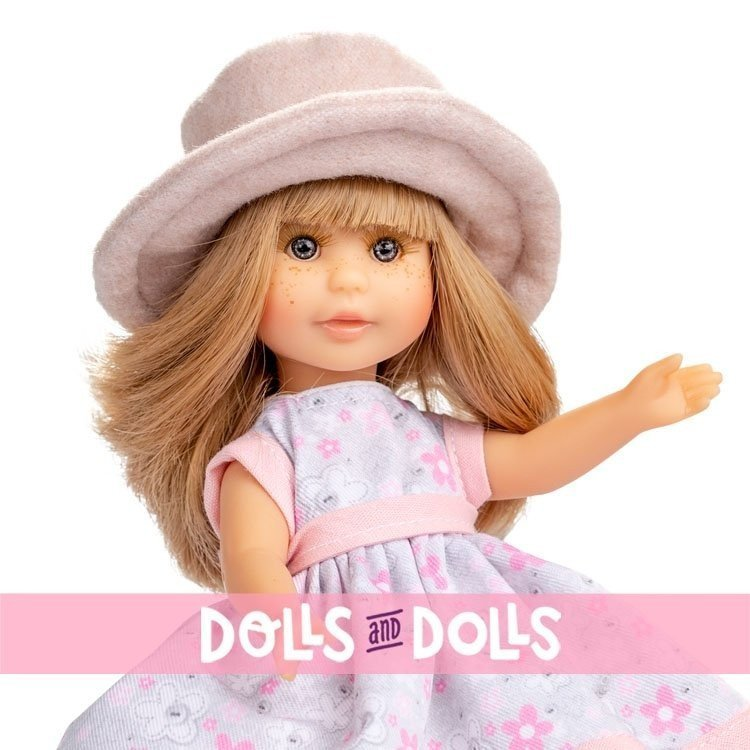 Berjuan doll 22 cm - Boutique dolls - Irene blonde with closet and coat