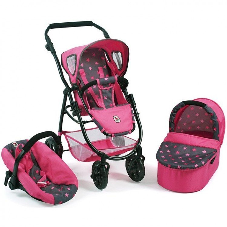 Emotion 3 in 1 doll pram 77 cm - Chair, carrycot and car ...
