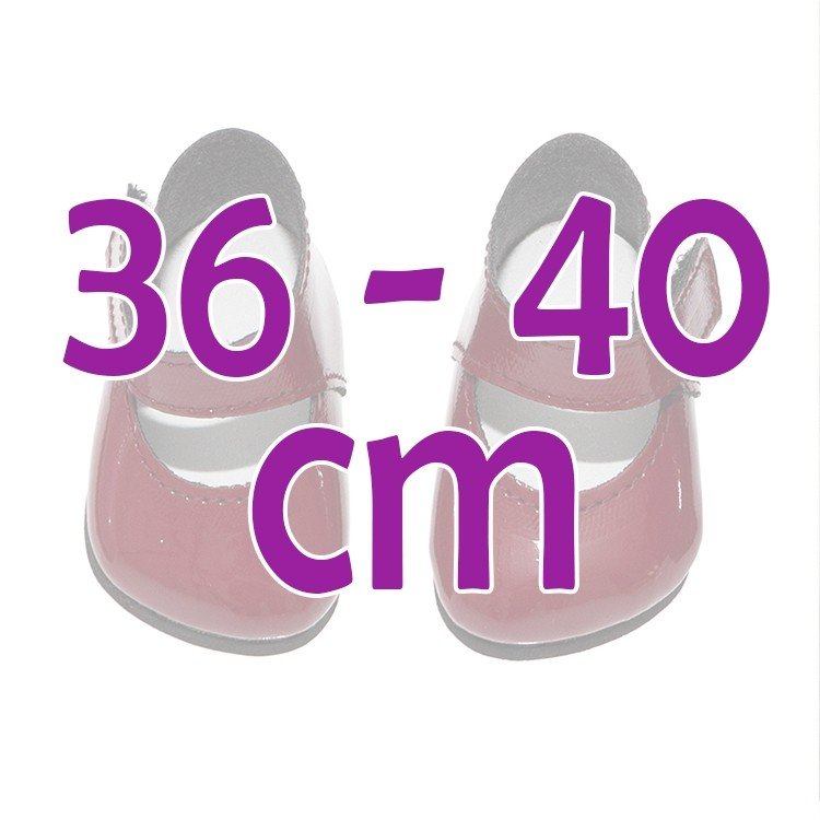 Así doll Complements 36 to 40 cm - Garnet shoes for Guille, Koke and Nelly doll