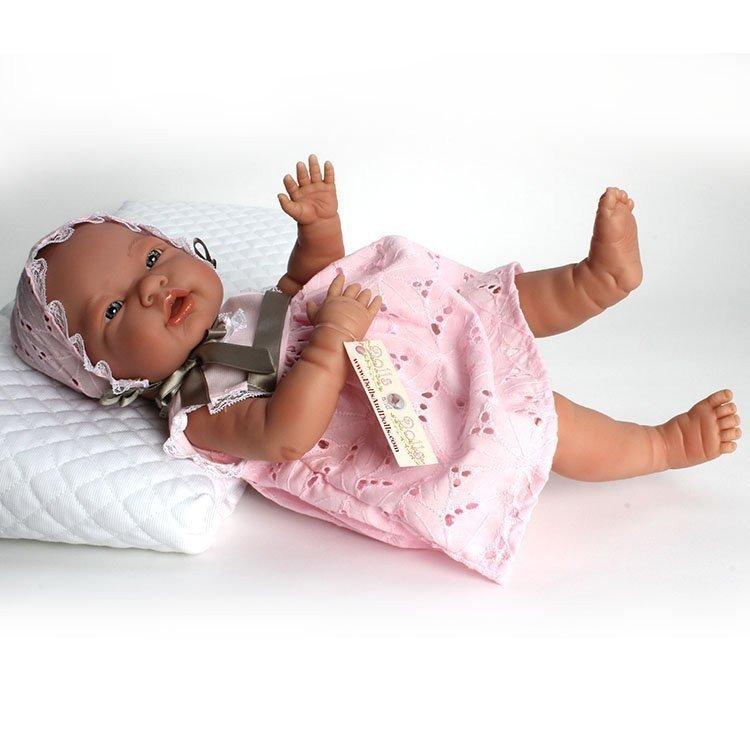 Mio Mio Baby Doll Openwork Pink Dress