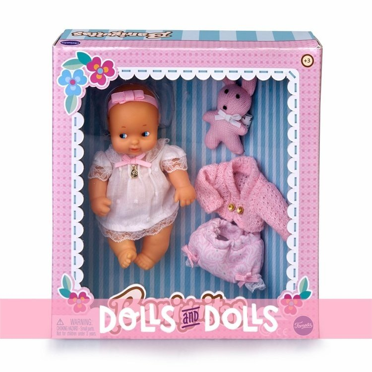 Barriguitas Classic doll 15 cm - Baby set with pink clothes