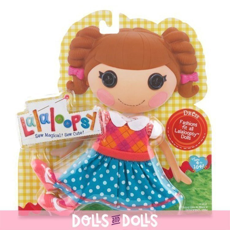 Outfit for Lalaloopsy doll 31 cm - Rhombuses and polka dots dress