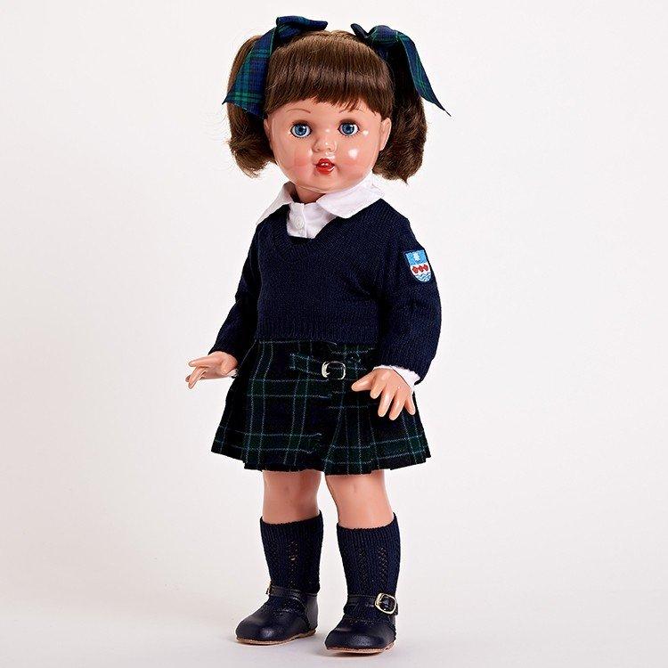 Mariquita Pérez Doll 50 cm - Navy blue schoolgirl