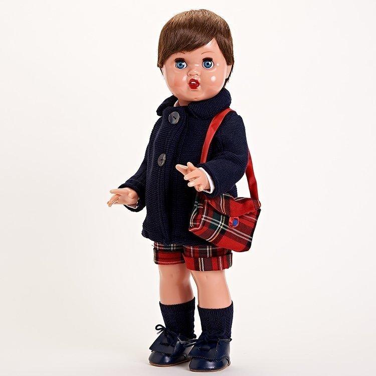 Juanín Pérez Doll 50 cm - Navy wool coat outfit