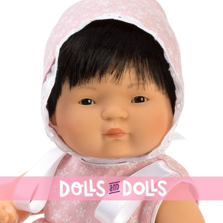 Así doll 36 cm - Chinín with pink stars dress
