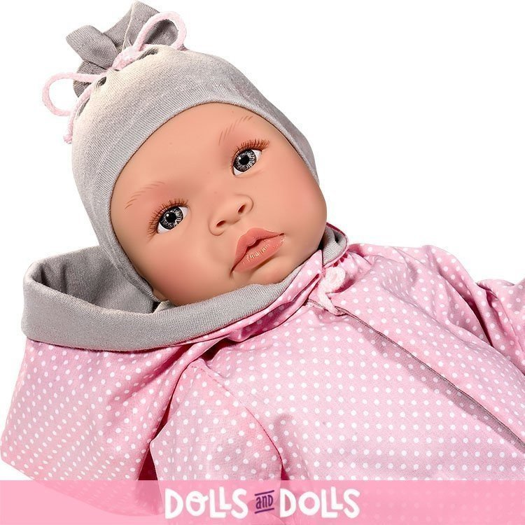 Así doll 46 cm - Leo with gray and pink reversible jacket