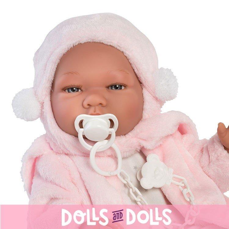 Así doll 43 cm - María star printed romper with pink jacket
