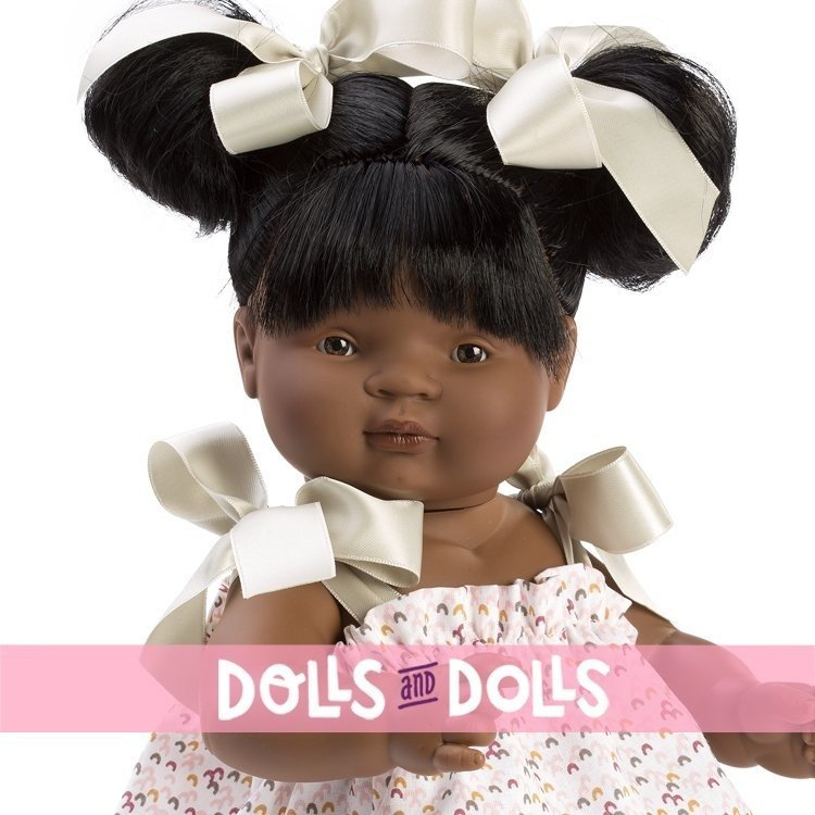 Así doll 36 cm - Sammy with printed dress with green bows