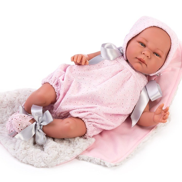 Así doll 46 cm - Gabriela, limited series Reborn type doll