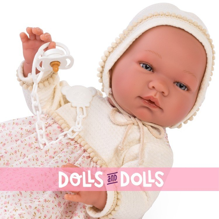 Así doll 43 cm - Maria with pink and beige flowers dress