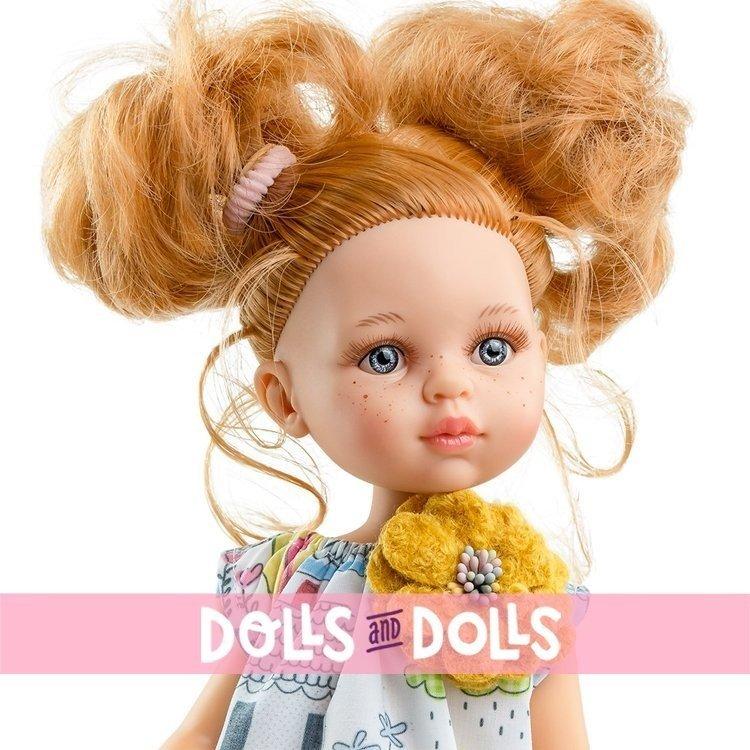 Paola Reina doll 32 cm - Las Amigas - Dasha with printed dress with yellow flower