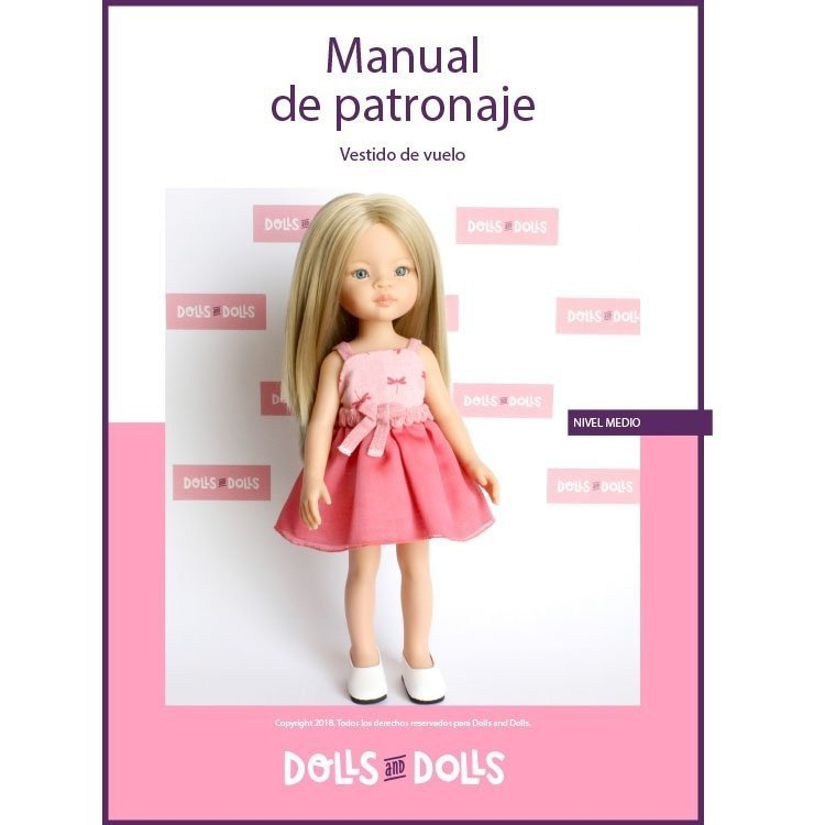 Dolls And Dolls downloadable pattern for Las Amigas dolls - Floaty dress