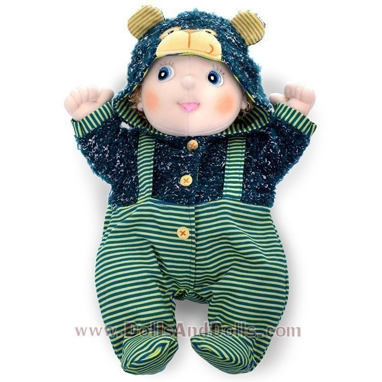 Rubens Barn doll Outfit 45 cm - Rubens Baby - Teddybear overall
