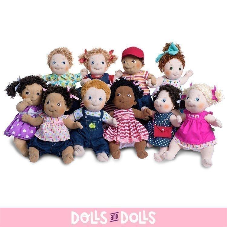 Rubens Barn doll 36 cm - Rubens Kids - Clara with purple dress
