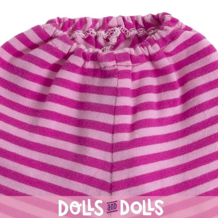 Rubens Barn doll Outfit 36 cm - Outfit for Rubens Ark and Kids - Pink leggings