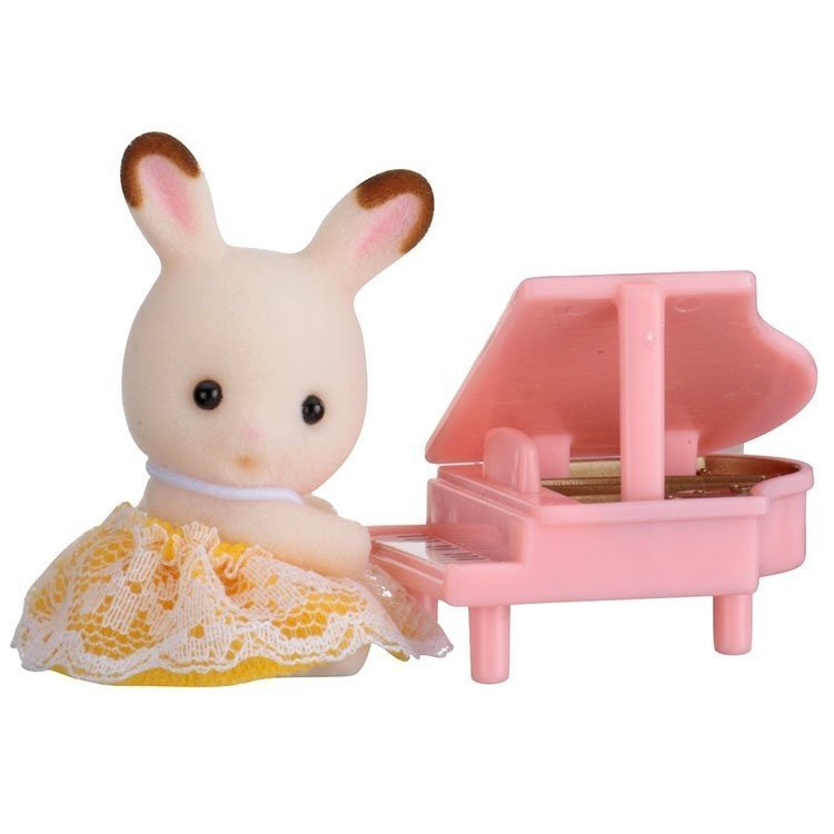 Sylvanian Families - Baby to bring - Chocolate rabbit with piano