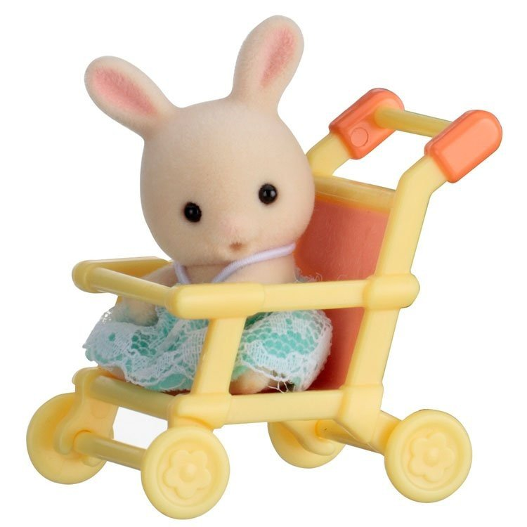 Sylvanian Families - Baby to bring - Rabbit in stroller