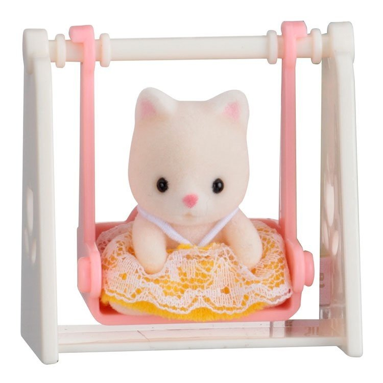 Sylvanian Families - Baby to bring - Cat on swing