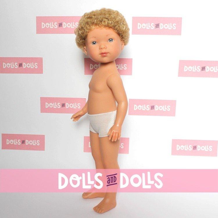 Vestida de Azul doll 28 cm - Los amigos de Carlota - Hugo blonde with curly hair without clothes